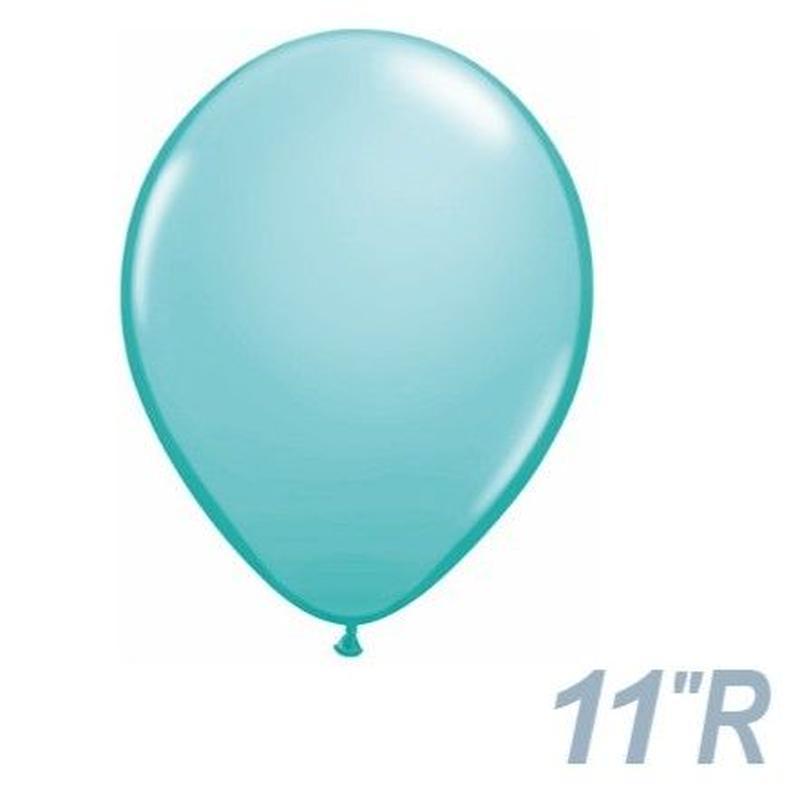 【ゴムバルーン】11インチ カリビアンブルー/5個セット約28cm ラウンド 無地 [BG0103-50322-P]