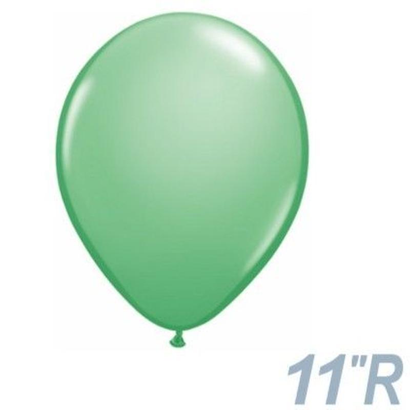 【ゴムバルーン】11インチ ウィンターグリーン/5個セット約28cm ラウンド 無地 [BG0103-43803-P]