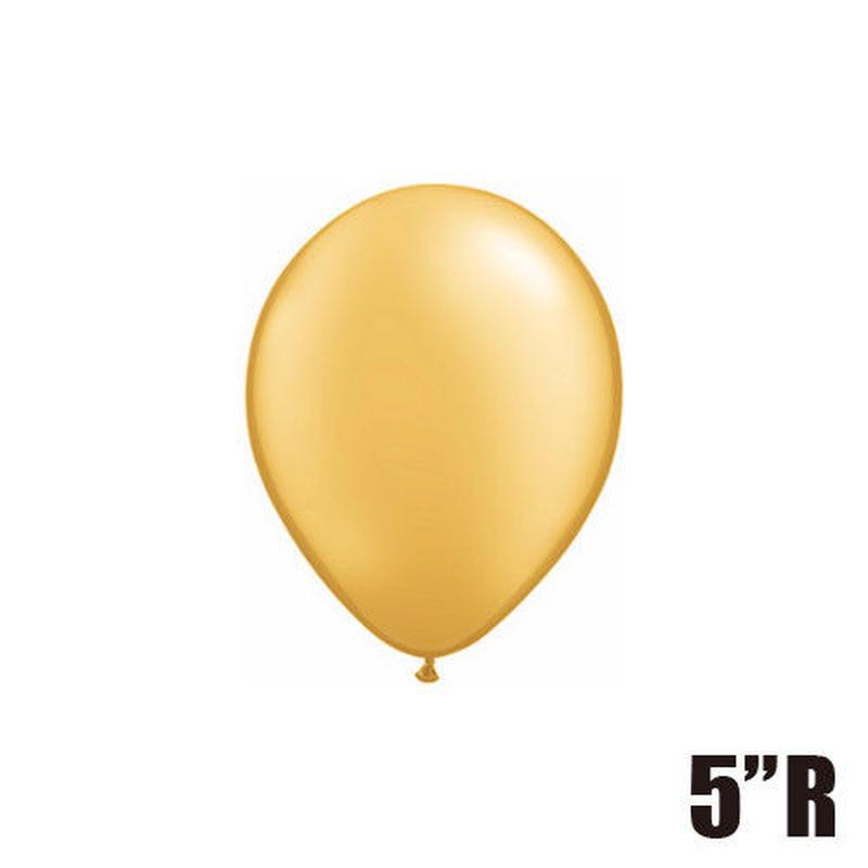 【ゴムバルーン】5インチ /5個セット 約13cm ラウンド 無地 [BG0101-P]