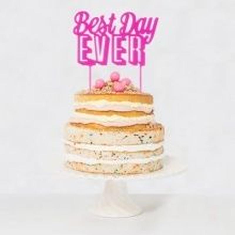 【Talking Tables】ケーキトッパー/BEST DAY EVER [TT0205-TOPPER-DAY]