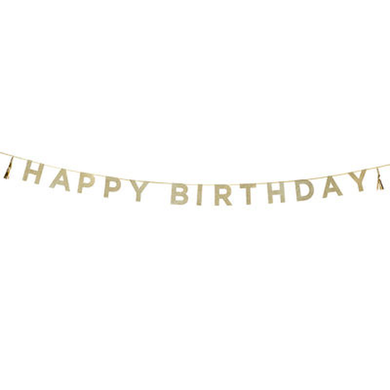【Talking Tables】パーティバナー・ガーランド/Happy Birthday  [TT0101-SAY-HB]