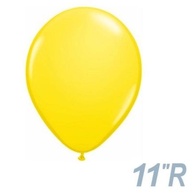 【ゴムバルーン】11インチ イエロー/5個セット約28cm ラウンド 無地[BG0103-43804-P]