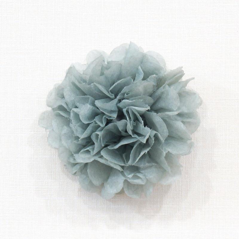 フラワーポム XXSサイズ ホワイト&ライトグレー2色5個セット[PM1308-01]