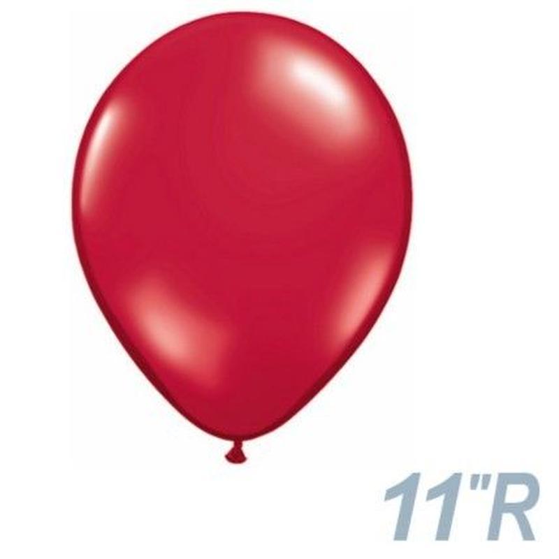 【ゴムバルーン】11インチ ルビーレッド/5個セット約28cm ラウンド 無地[BG0103-43792-P]