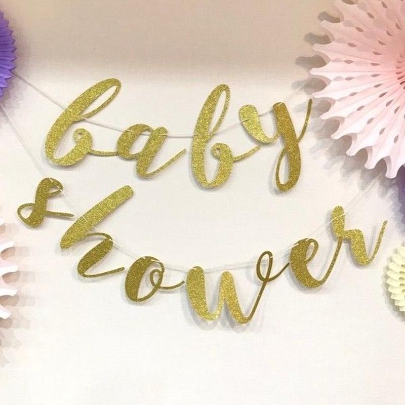 【SOCO'sセレクトシリーズ】スクリプトガーランド/Baby Shower/2色展開[ZZ0902-SC101]