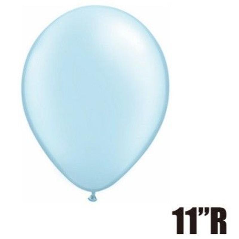 【ゴムバルーン】11インチ パールライトブルー/5個セット 約28cm ラウンド 無地[BG0103-43777-P]