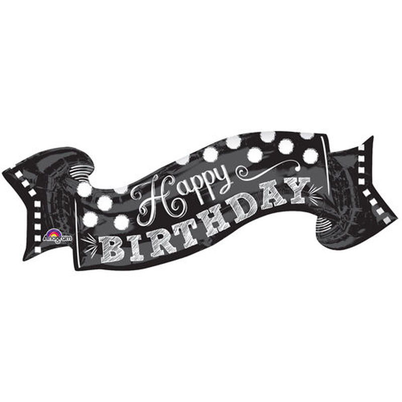 チョークボード Happy Birthday ハッピーバースデー ヘリウムガス無し Anagram [BF0501-30931]