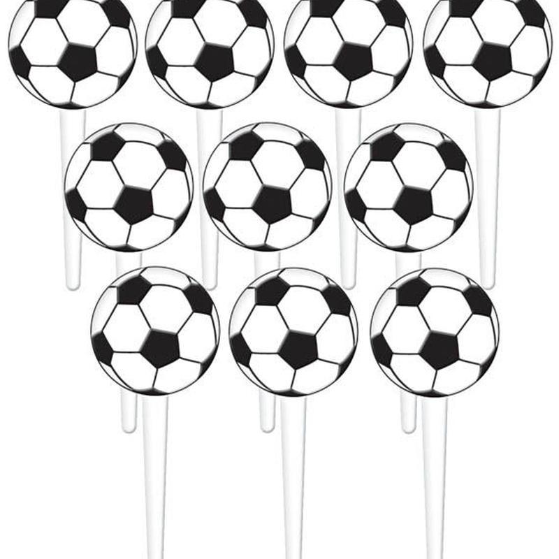 【amscan】ピック/サッカーボール/10本入り [AM0205-400041-P]