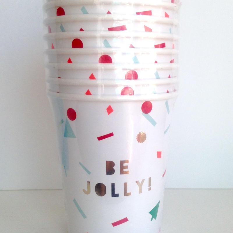 【MeriMeri】ペーパーカップ/BE JOLLY!/8個入り  [MM0202-45-1940]