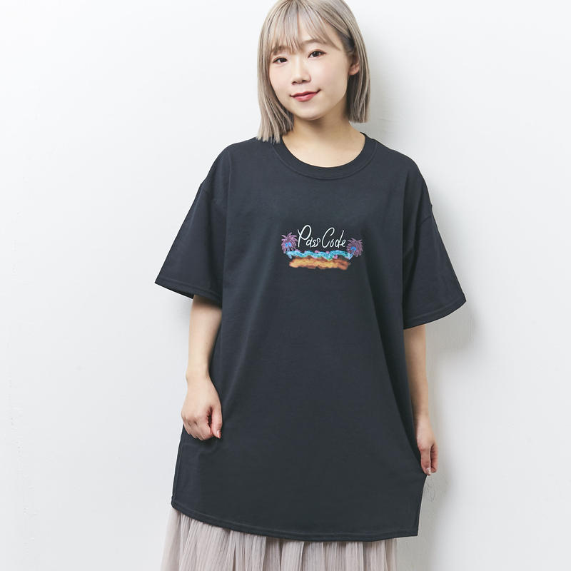 【PassCode】BEACH TEE(BLACK)
