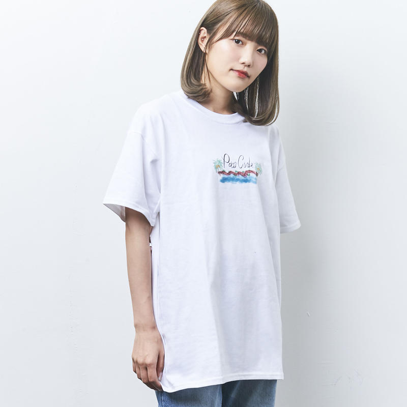 【PassCode】BEACH TEE(WHITE)