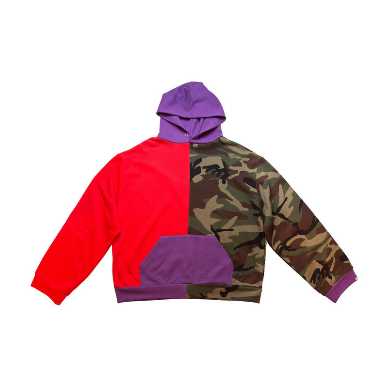 COTTON HOODED SWEATER 'PSYCHO (MULTI)
