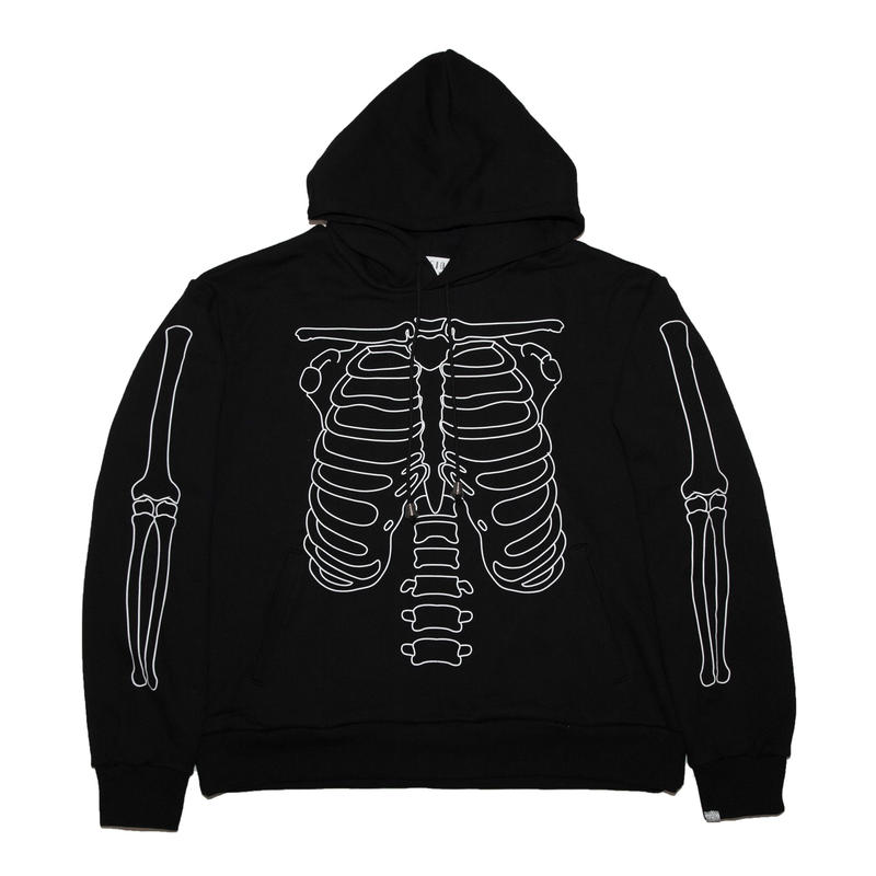 COTTON HOODED SWEATER 'BONES