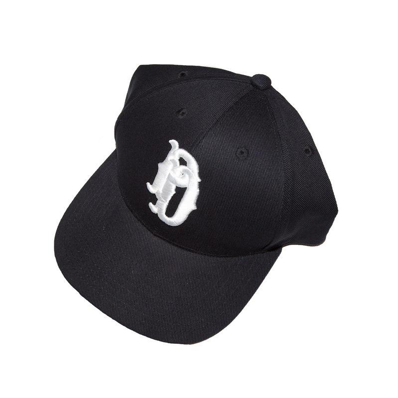EMB BASEBALL CAP 'HIGHSCHOOLER (BLACK)