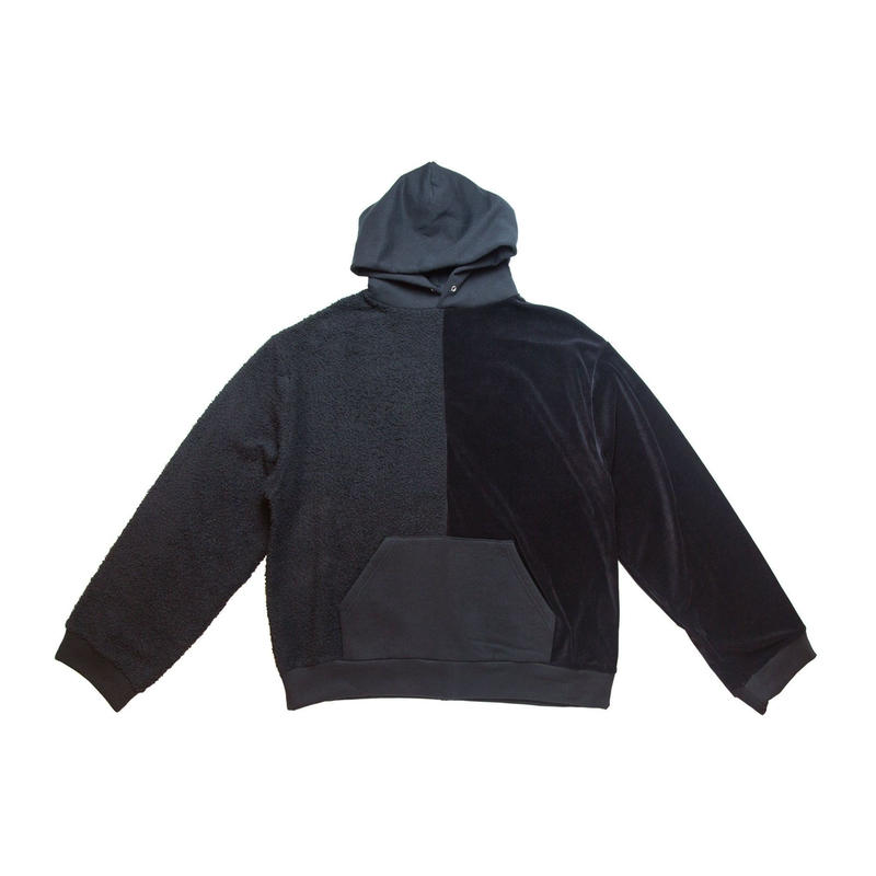 COTTON HOODED SWEATER 'PSYCHO (BLACK)