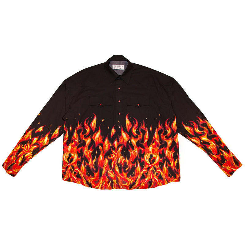 OVERSIZED WESTERN SHIRT 'FLAME