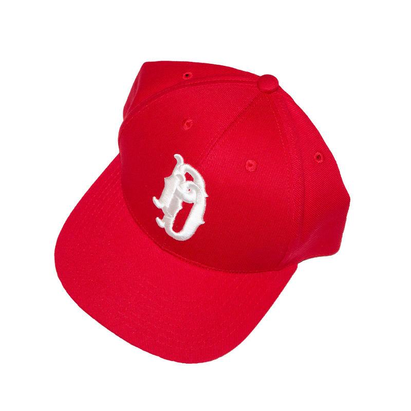 EMB BASEBALL CAP 'HIGHSCHOOLER (RED)