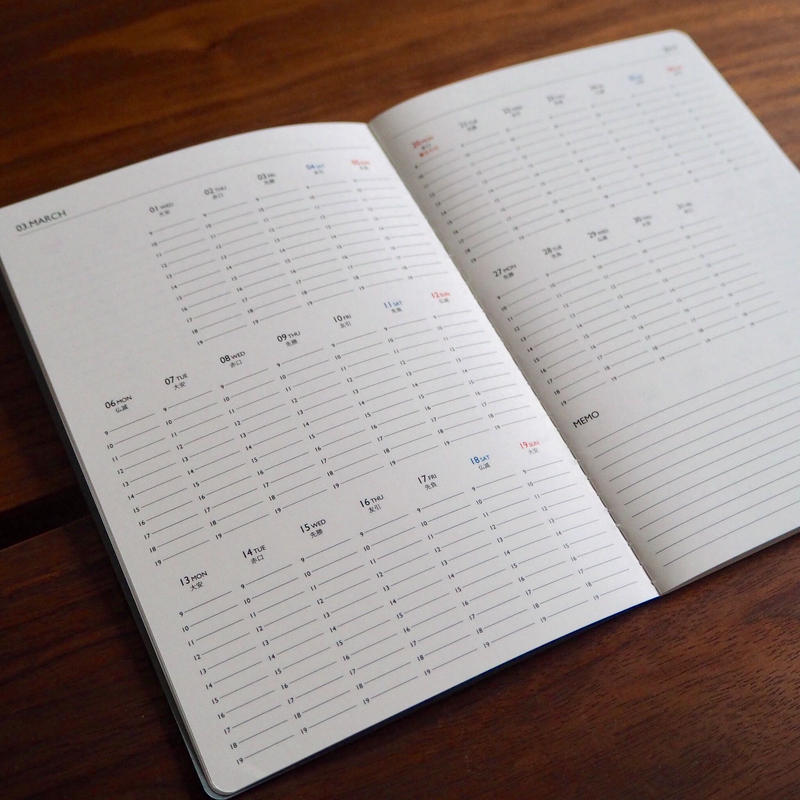 KURASU  BRAND  2019年スケジュール帳  【 A5版 】