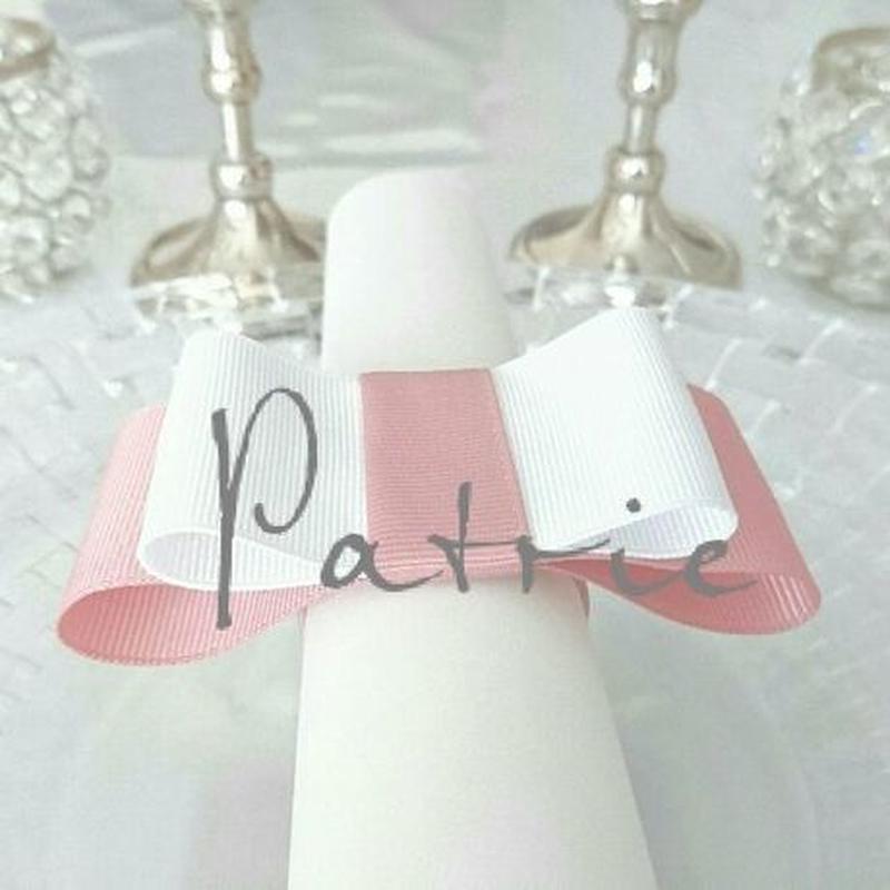 【選べるカラー】テーブルウェア  可愛いリボンのナプキンリング