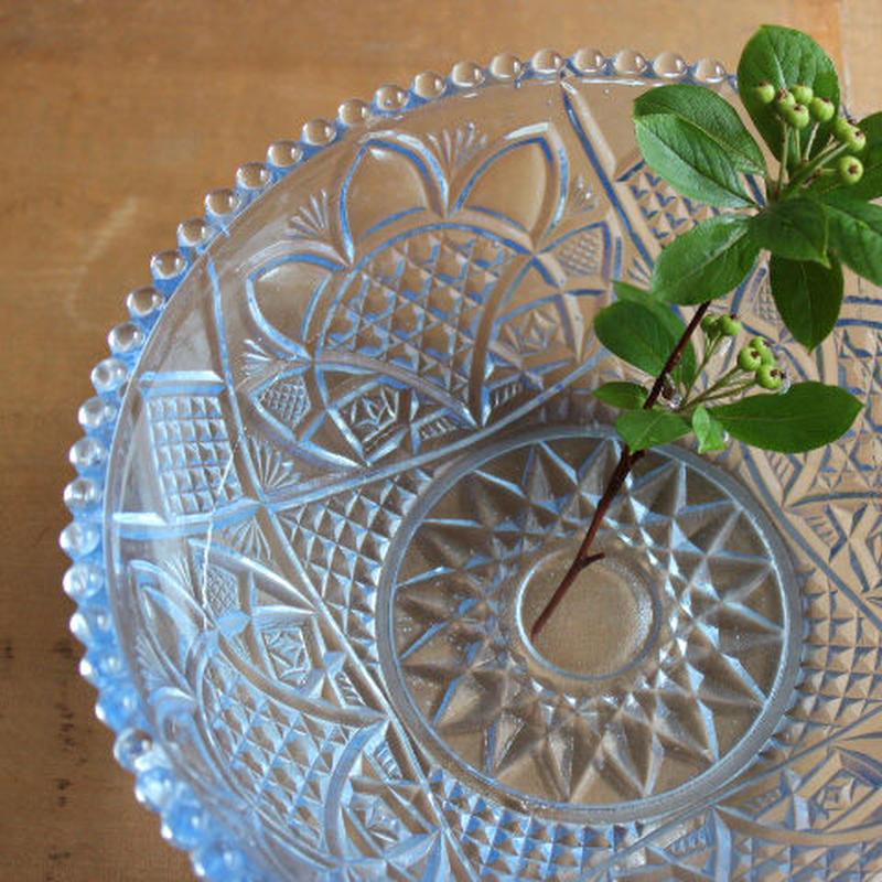 昭和レトロ・プレスガラスの中鉢(パイナップル)