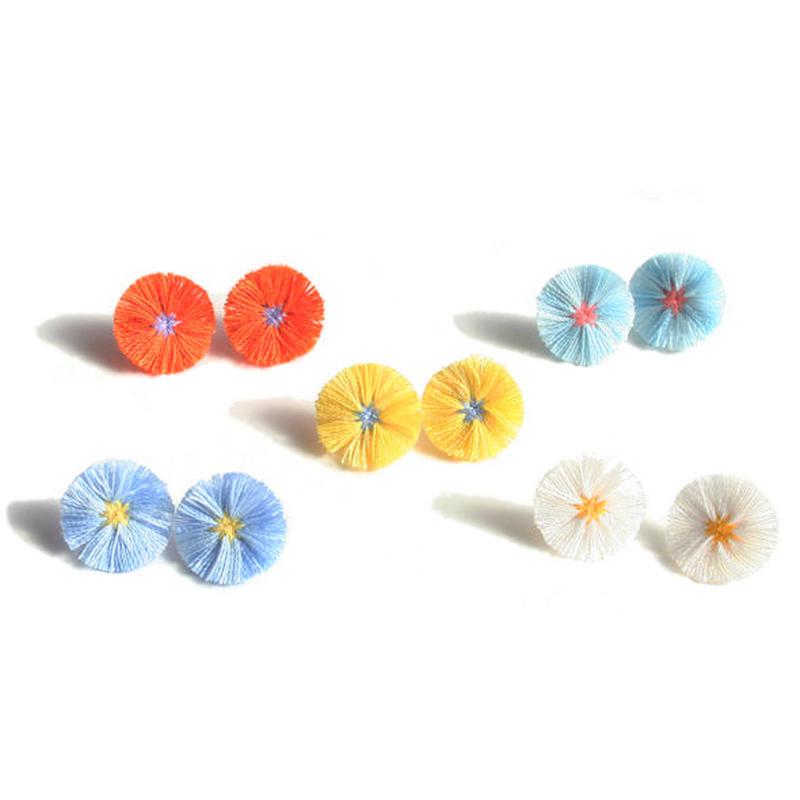 FRINGE FLOWER PIERCE/EARRING