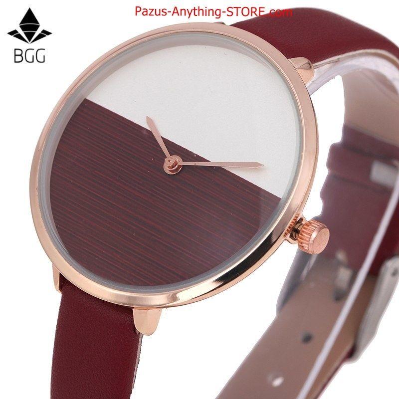 木製 文字盤腕時計 女性 エレガント 薄型 カジュアル 女性腕時計 1768 9/25
