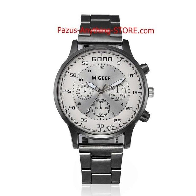 腕時計 男性 ステンレス鋼アナログクォーツ腕時計 1744 9/25