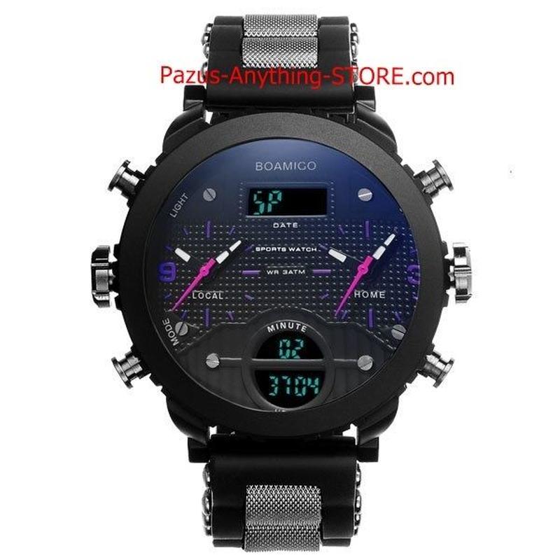 男性腕時計 ミリタリースポーツ腕時計 男性 LED デジタルクォーツ腕時計 ギフト 1734 9/25