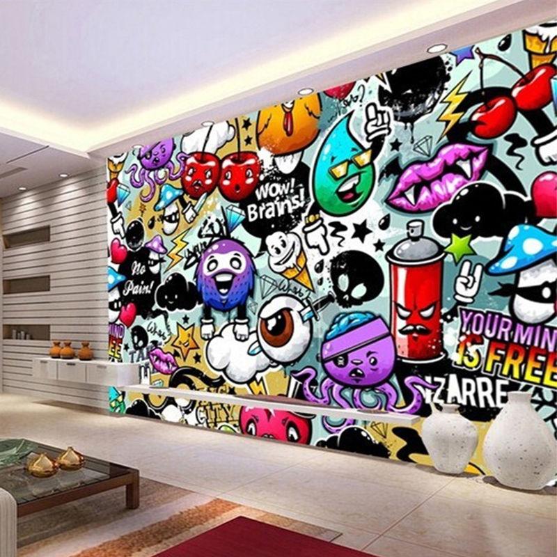 クリエイティブアート 落書き 壁画壁紙 子供部屋 リビングルーム 家の装飾 3D 不織 533 7/17