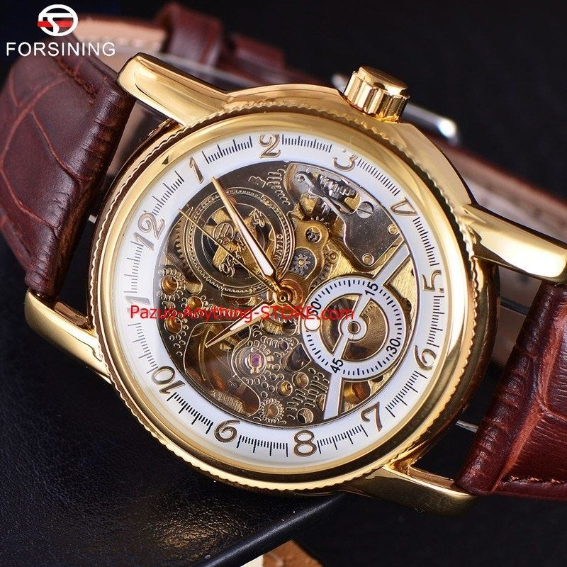 機械式時計 3dロゴメンズゴールド 高級腕時計 ミリタリースポーツ スケルトン時計 1746 9/25