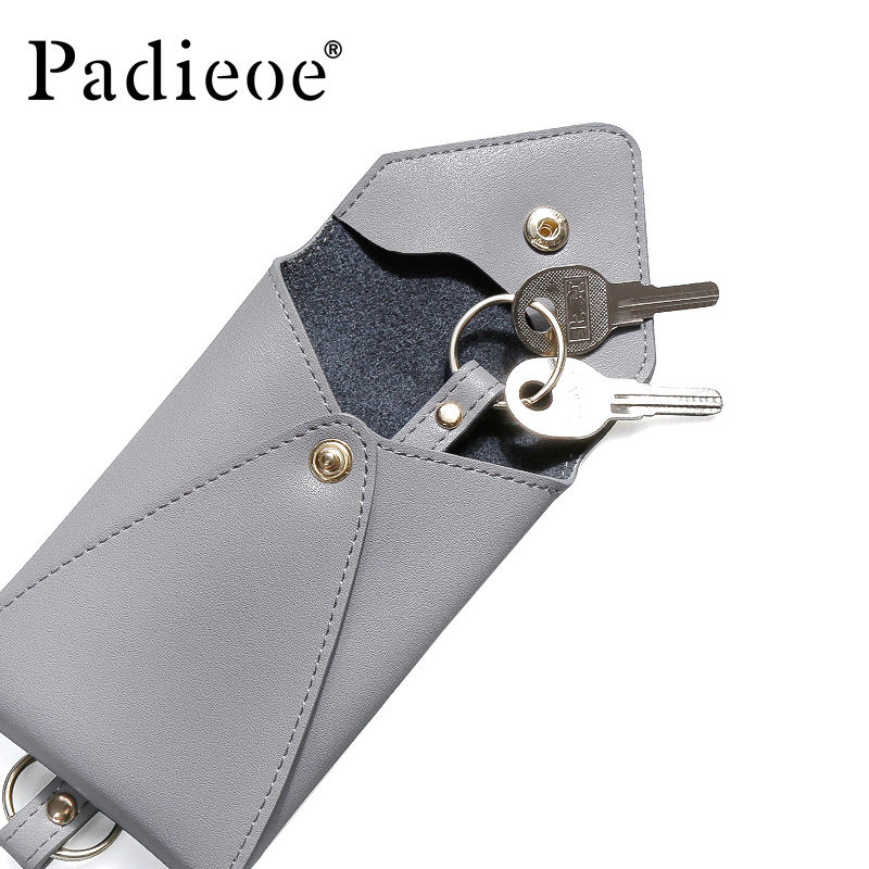 Padieoe 女性 コイン財布 かわいいカードホルダー財布 キーチェーン レザーキーケース 406 7/8