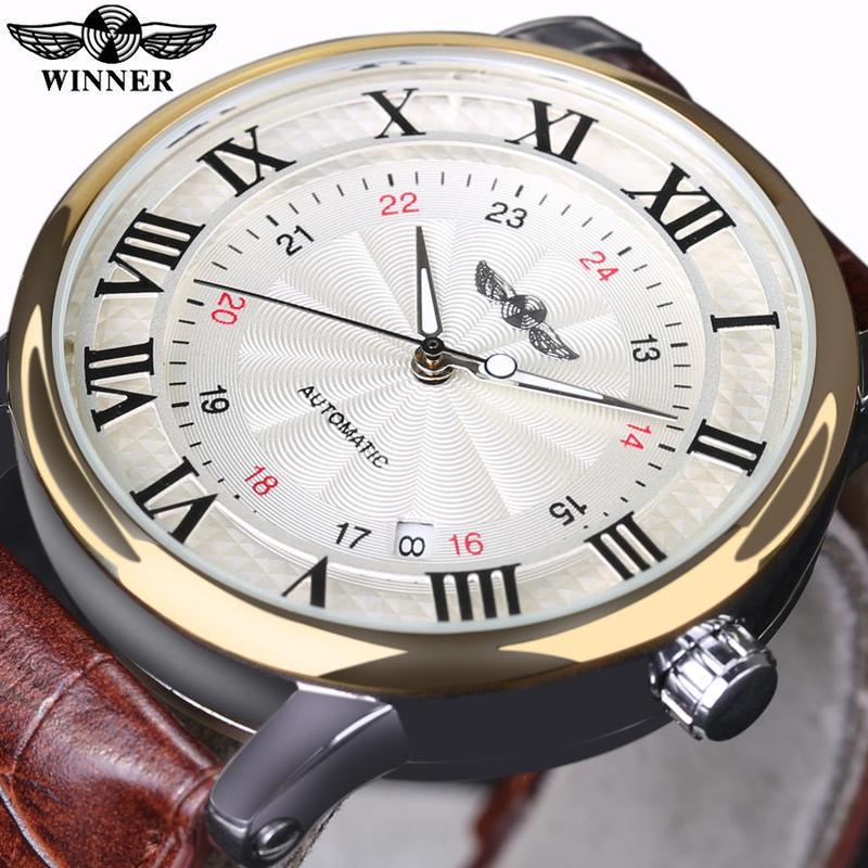 Winner トップブランド 高級腕時計 メンズ自動機械式腕時計 メンズビジネス腕時計 43