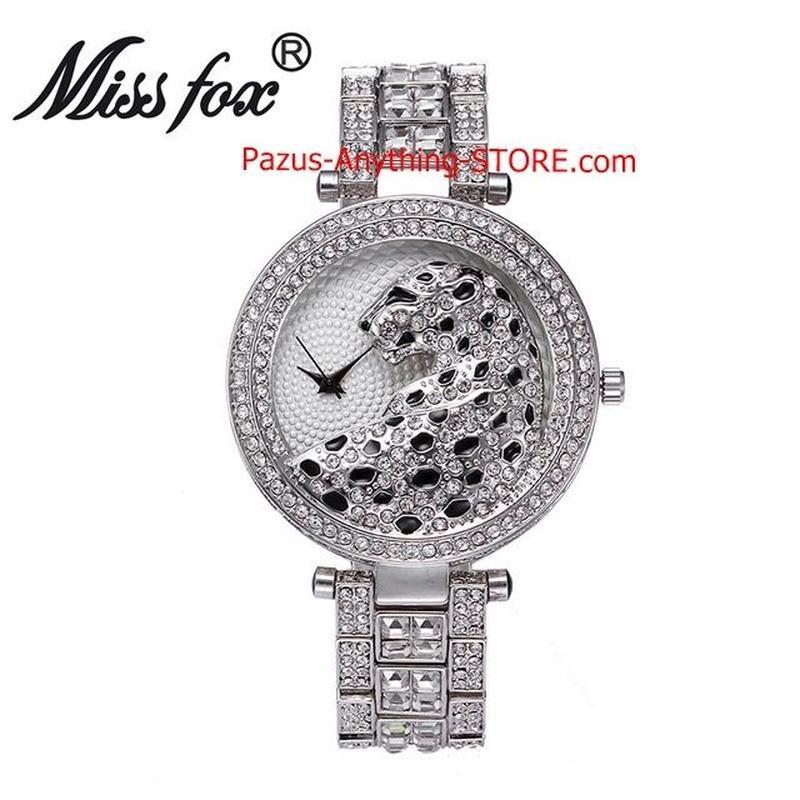 ヒョウ腕時計 女性 ゴールデン時計 ダイヤモンドゴールドクォーツ腕時計 1770 9/25