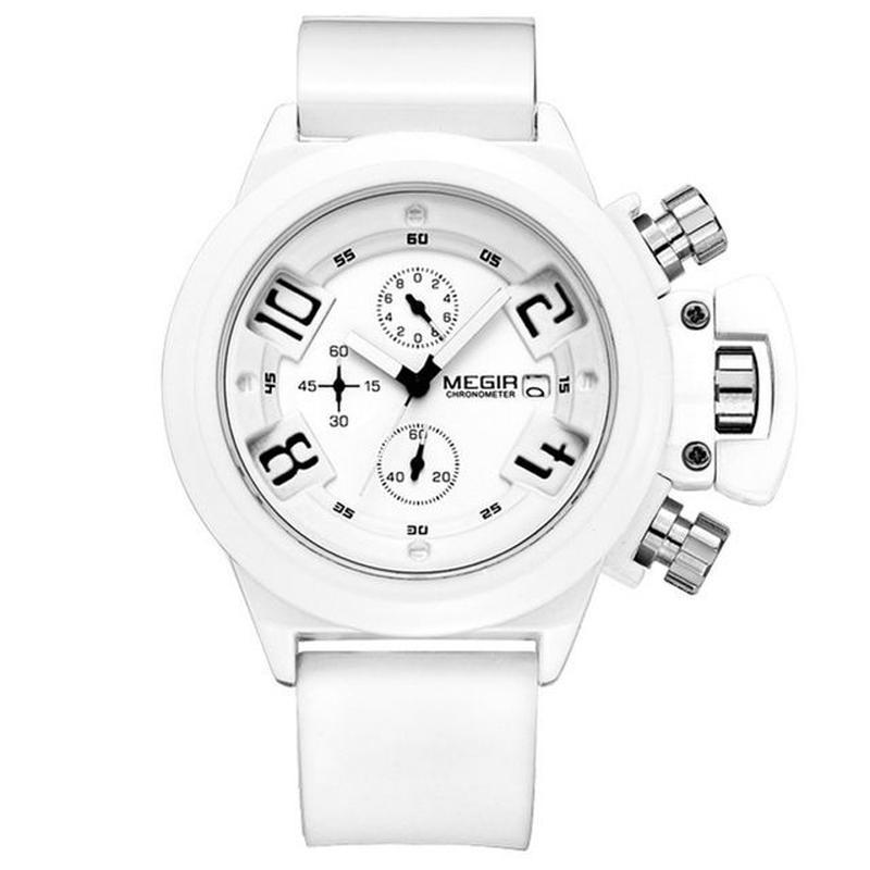 Megir メンズスポーツクォーツ腕時計 男性腕時計 クロノグラフ腕時計 55