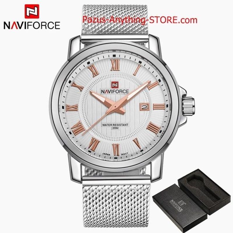 男性 カジュアルビジネス腕時計 メンズクォーツ時計 ステンレススチールメッシュストラップ腕時計 1719 9/25