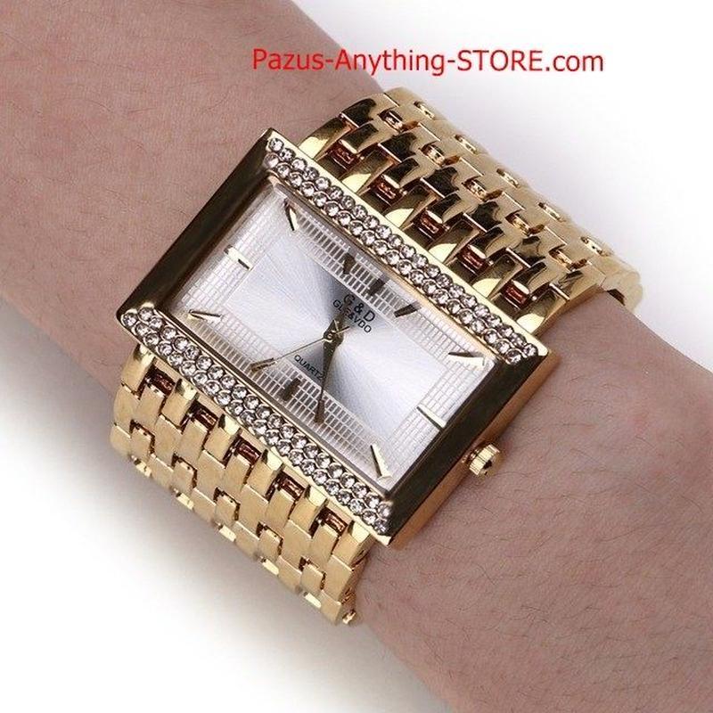 ステンレス鋼 チェーンファッション ゴールド腕時計 女性腕時計 クォーツ時計 1767 9/25