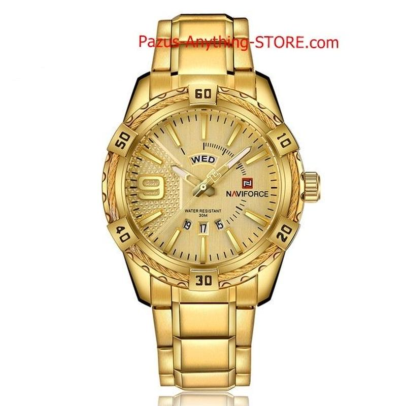 メンズ 高級スポーツ腕時計 防水 クォーツ時計 男性 フルスチールブルー腕時計 1702 9/25