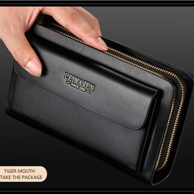 ビジネス財布 コインポケット財布 ロングレザー 大容量ファッション財布 460 7/10