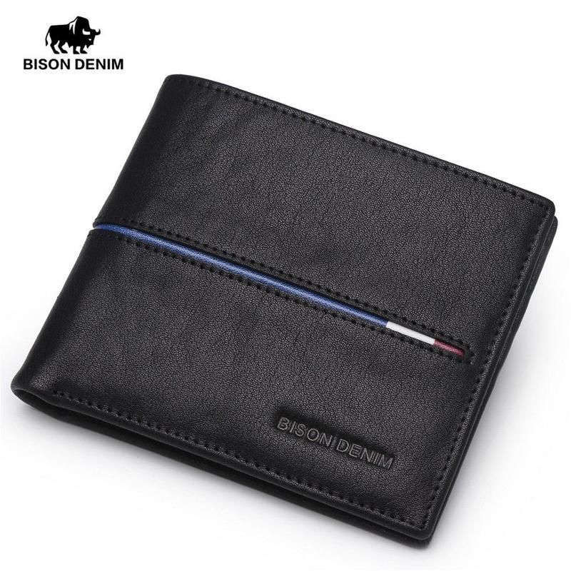 バイソンデニム 本革財布 男性 デザイン財布 ギフト 二つに折り畳める財布 427 7/10