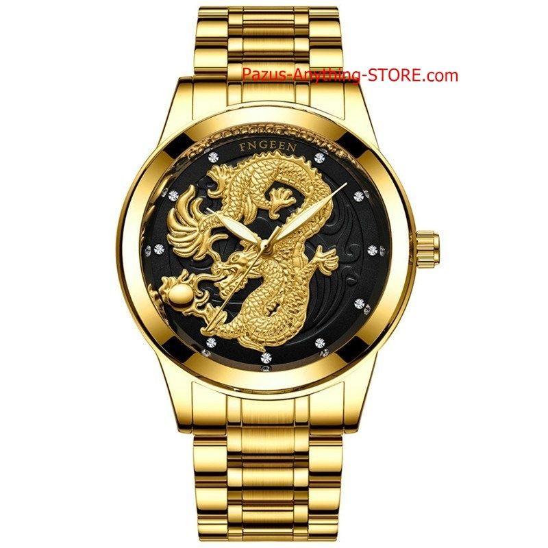 ドラゴン 鋼ストラップ腕時計 男性クォーツ時計 カジュアル男性 スポーツビジネス腕時計 1749 9/25