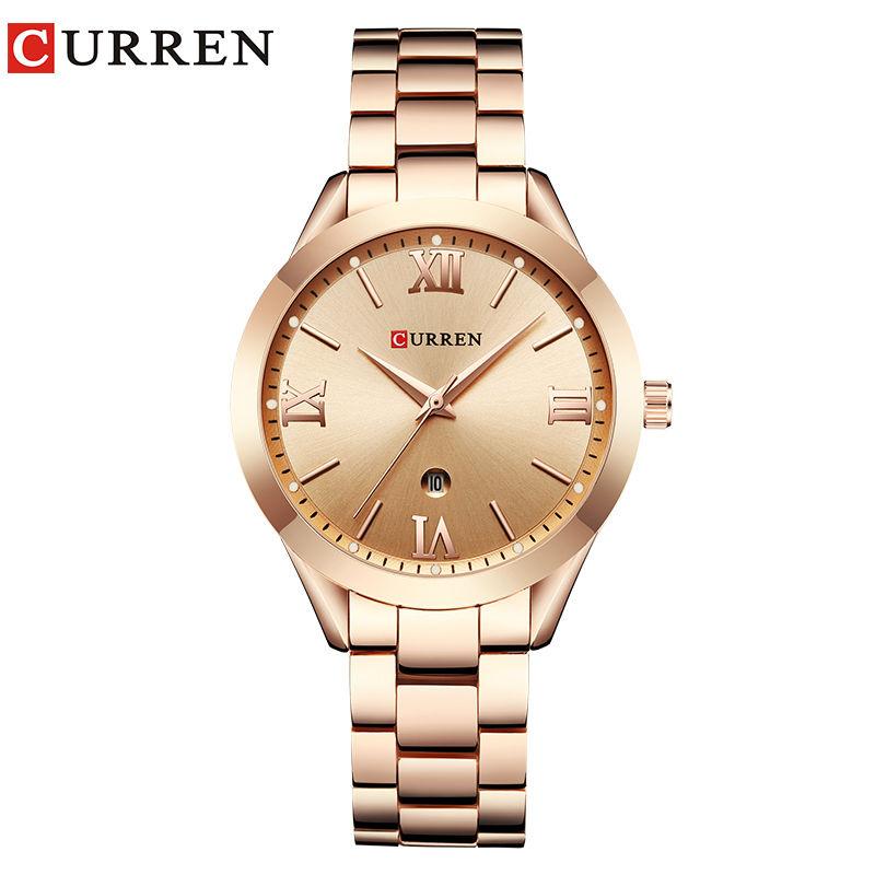 カレン ローズゴールド腕時計 女性クォーツ時計 レディーストップブランド 143