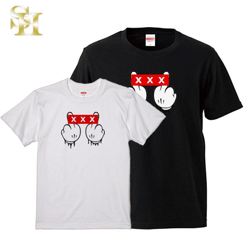 Tシャツ メンズ 半袖 ス トリプルエックス XXX ミッキーハンド ブランド パロディ 国内正規品