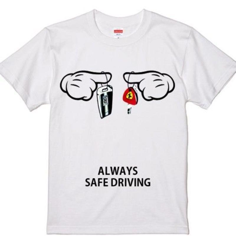 予約販売★6月8日再入荷します★Tシャツ メンズ 半袖スーパーカーCAR KEYSr ★ フェラーリorロールスロイス★ キー 高級車 ミッキーハンド鍵 パロディ 国内正規品