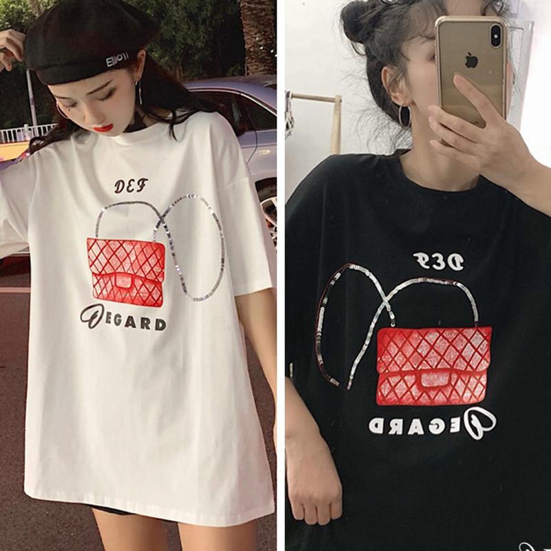 Tシャツワンピ★レディース バッグ 女子力レディースbag❤︎女子力UP COCO N5 ロゴ プリント Tシャツ