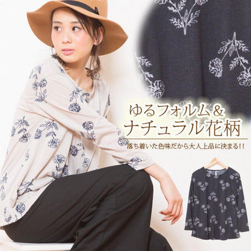 【2019春夏新作】サイズ:M~LL★総柄フレアチュニック