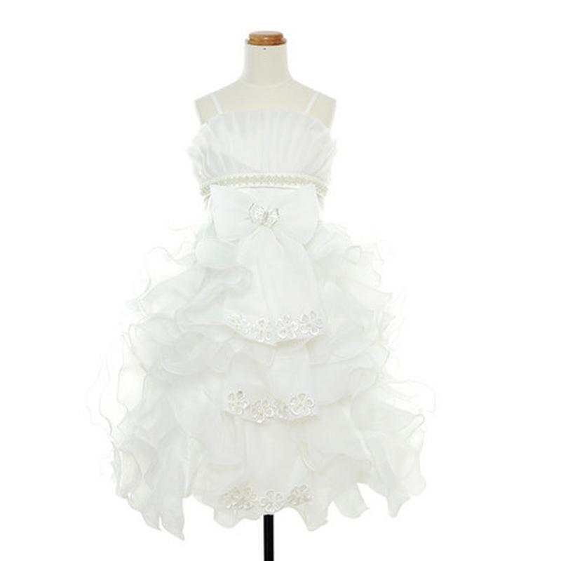 女の子♥大好き♥キュートフリル・ドレス 子供フォマールサイズ:【90㎝】