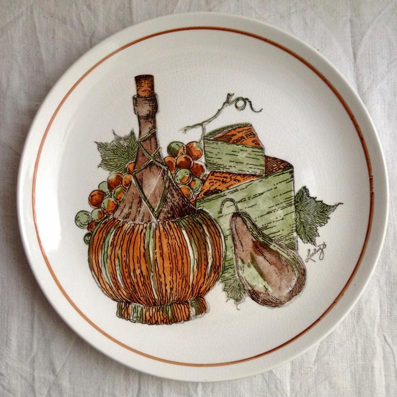 果物レトロ大皿27cm