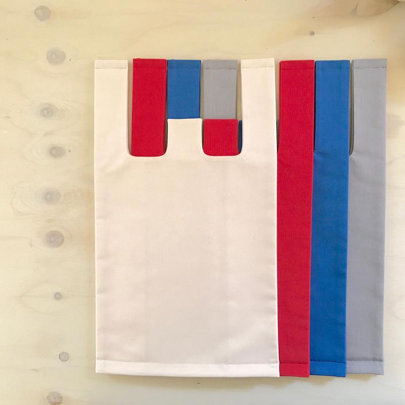 Fel färgレジ袋型布バック〈小〉