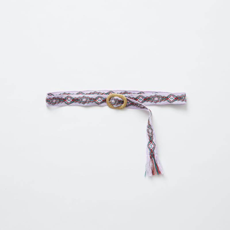 【 eLfinFolk 2019SS 】elf-191A45 tyrolean belt / pink