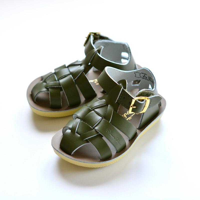 {hitomi.cath...様専用ページ}【 Saltwater Sandals 19SS】 海でも履けるレザーサンダル  / ソルトウォーターサンダル / オリーブ / US7